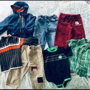 18 mo boys fall/winter clothing bundle name brand